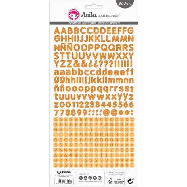 Autocollants Alphabets - Orange