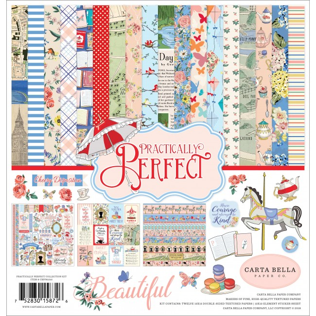 Kit Papiers Imprimés 12x12 Practically Perfect