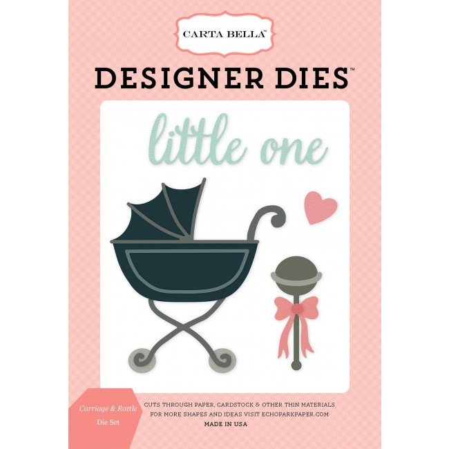 Matrice De Découpe Rock A Bye Baby Girl - Carriage & Rattle