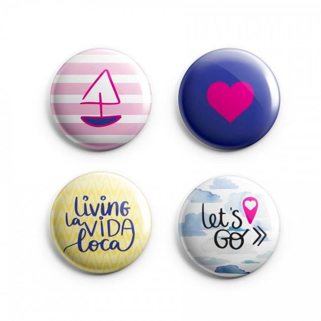 Badges Pink Lemonade Let's Go