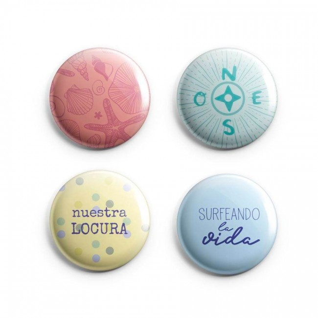 Badges Pink Lemonade Surfeando la Vida