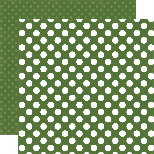 Papier Imprimé Recto-Verso 12x12 - Dots & Stripes - Crocodile Dot