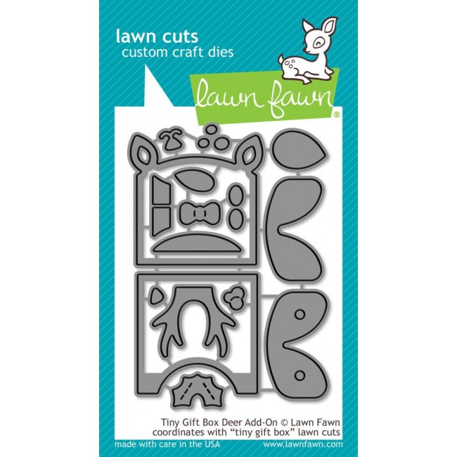 Matrice de Découpe Lawn Cuts Tiny Gift Box Deer Add-On