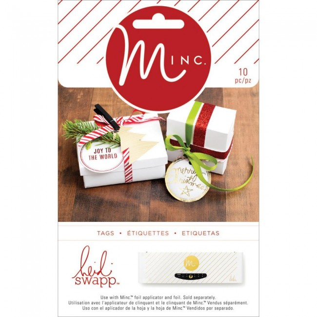 Minc Christmas Shaped Tags