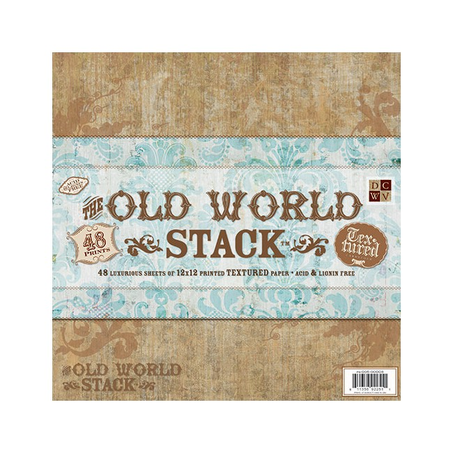 Stack Papiers Imprimés 12x12 Old World