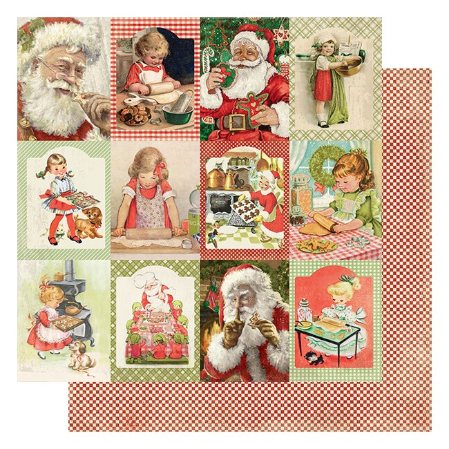Papier Imprimé Recto-verso 12x12 Rejoice #19 Christmas Kitchen Cut-Aparts