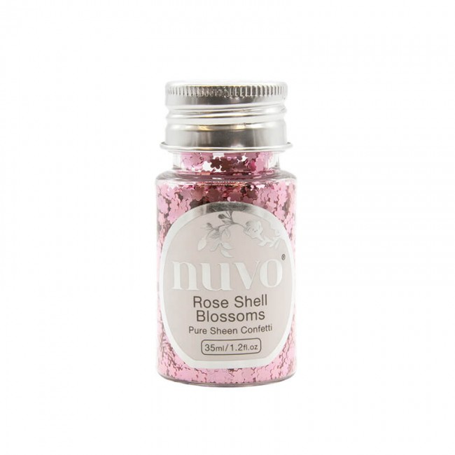 Paillettes Rose Shell Blossoms