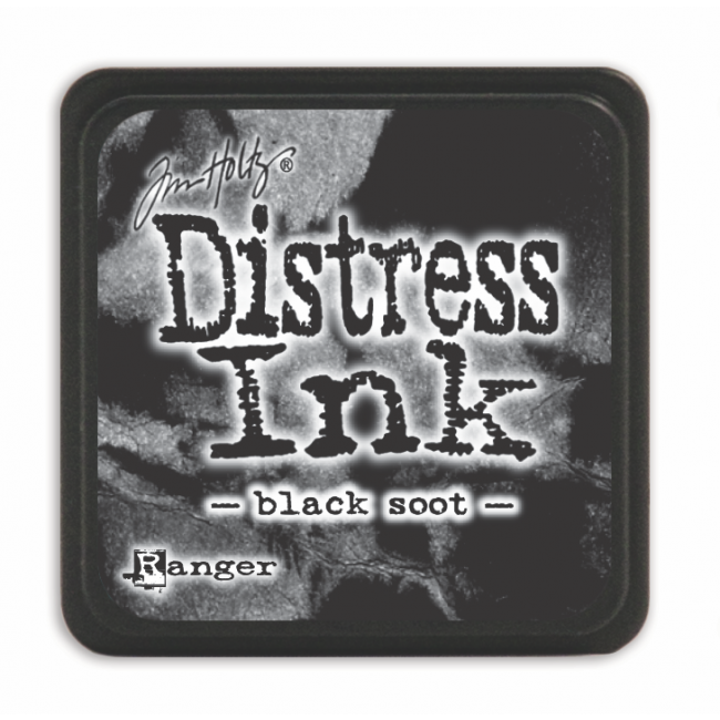 Encre Mini Distress Ink Black Soot
