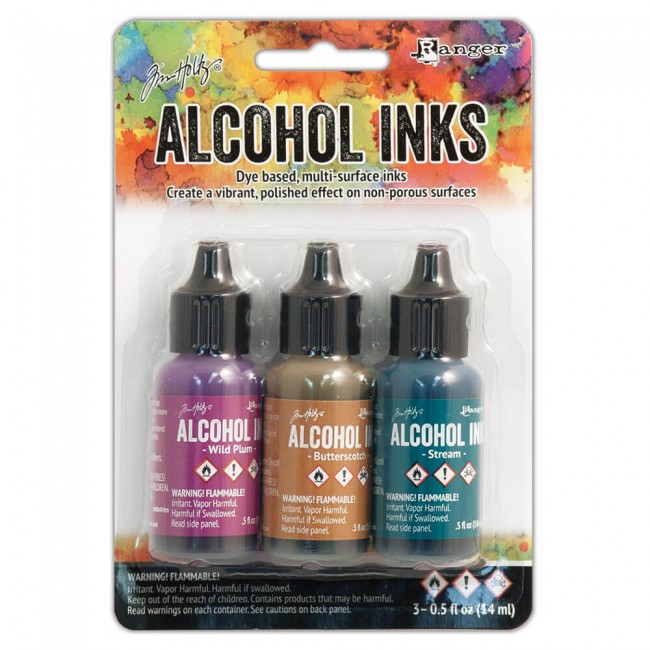 Lot 3 Alcohol Inks Nature Walk