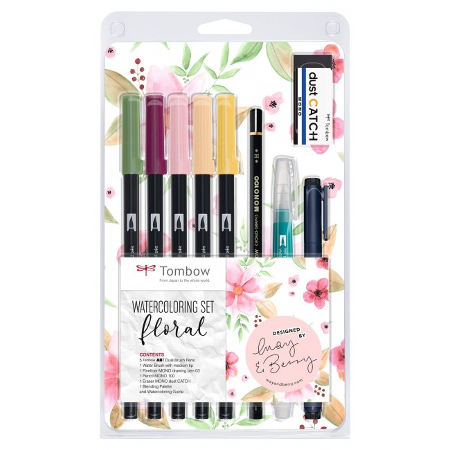 Lot Feutres Tombow Watercoloring Floral