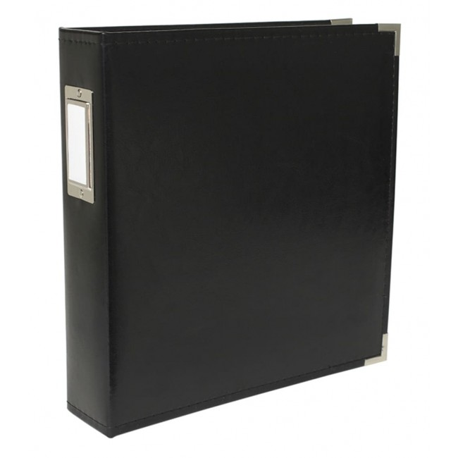 "Album 8.5"" x 11"" Faux Cuir Black"