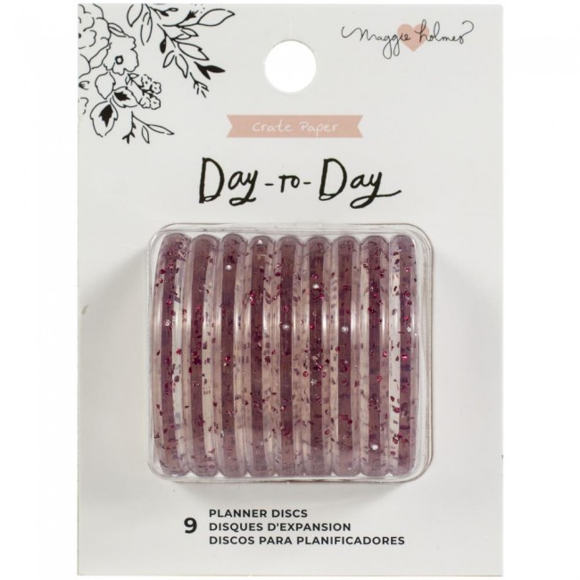 Anneaux disque Day to Day Maggie Holmes Pink Glitter