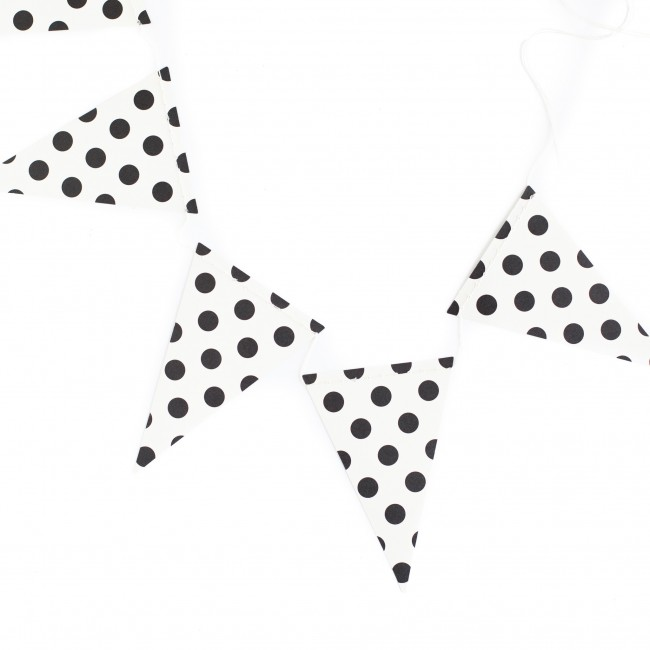 Dot Pennant Black & White Banner