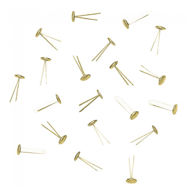 Attaches Parisiennes 18 Round Gold