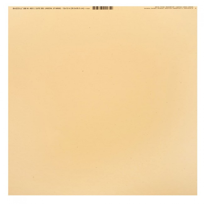 Papier Uni Lisse naturel Speckles 12x12 Travertine