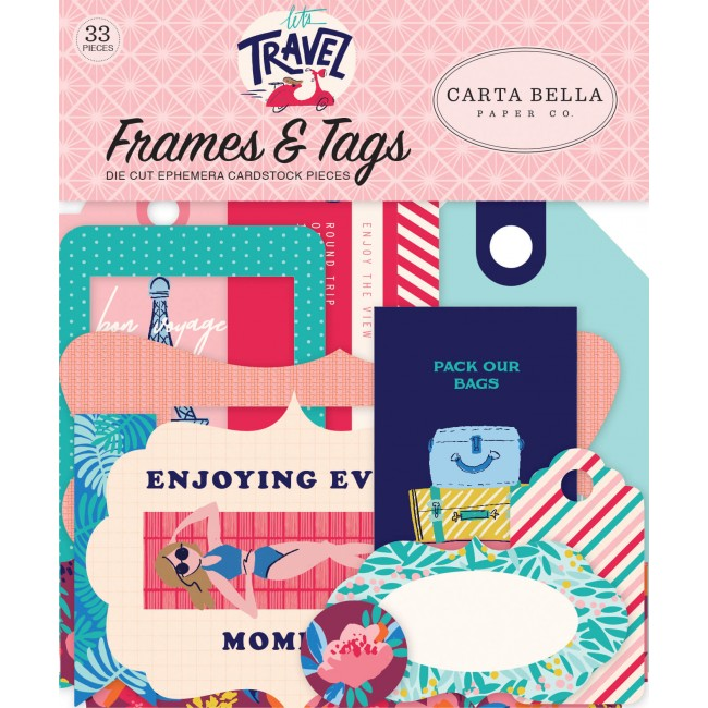 Die Cuts Let's Travel Frames & Tags