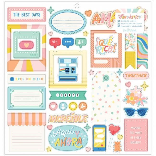 Chipboard 12x12 Fantastico Obed Marshall Icons & Phrase