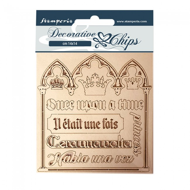 Chipboard 14 cm x 14 cm Sleeping Beauty Quotes