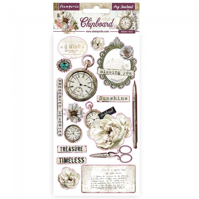 Chipboard 6x12 Romantic Collection Journal