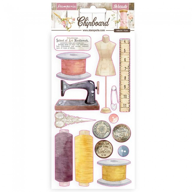 Chipboard 6x12 Romantic Collection Threads