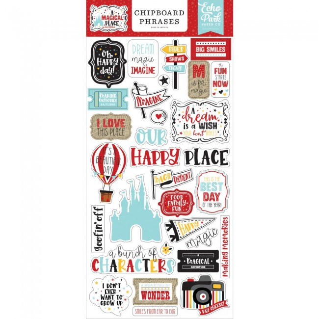 Chipboard 6x13 A Magical Place Phrases