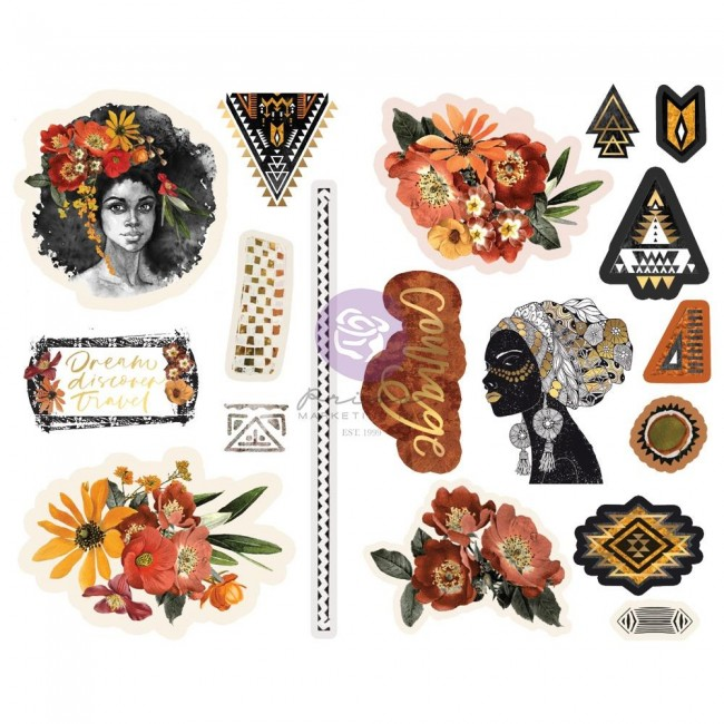 Chipboard Diamond Shapes Foil Accents