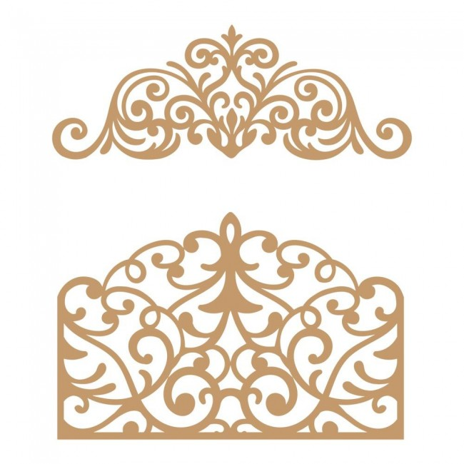 Chipboard Flourish Gate