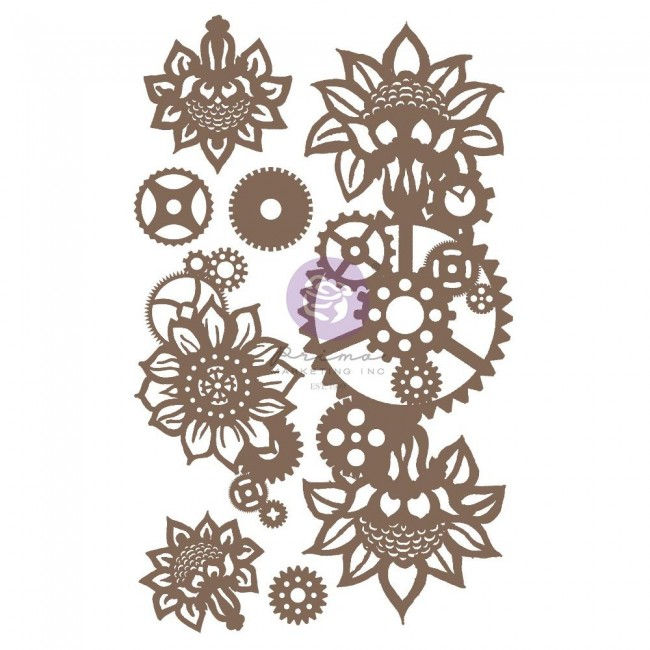 Chipboard Machine Floral Decors