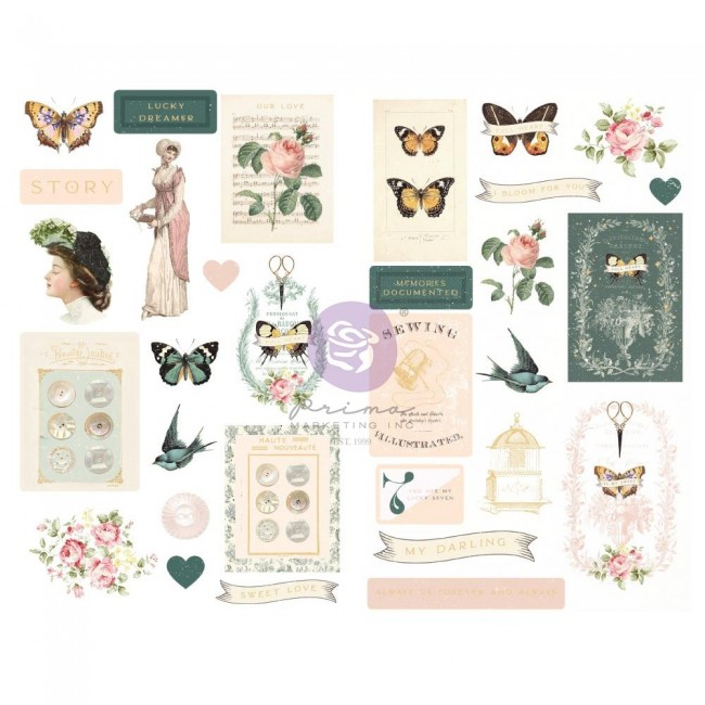 Chipboard My Sweet By Frank Garcia Shapes Foil Accents
