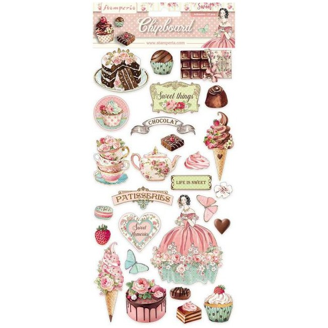 Chipboard 6x12 Sweety