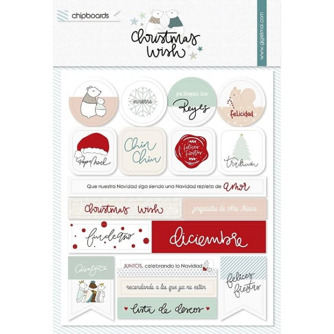 Chipboard Christmas Wish