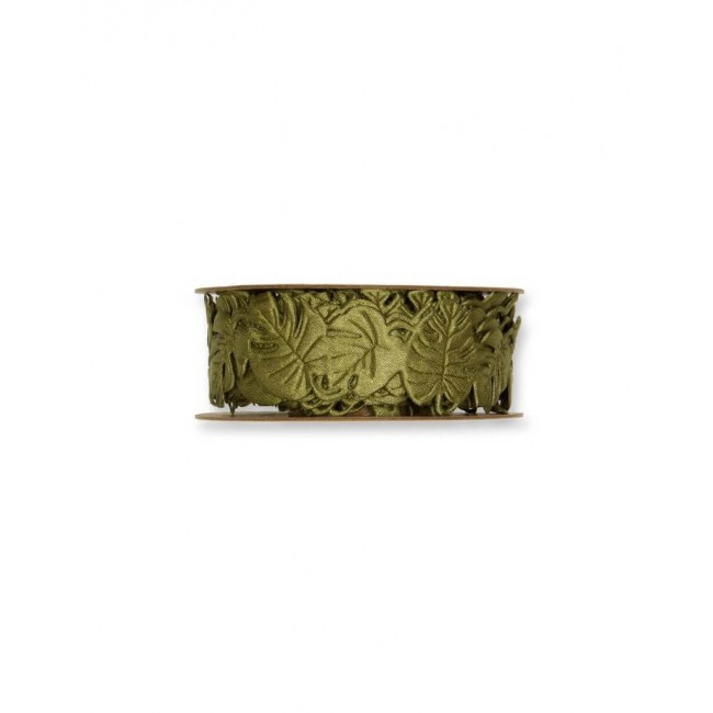 Rubans Feuilles tropicales olive