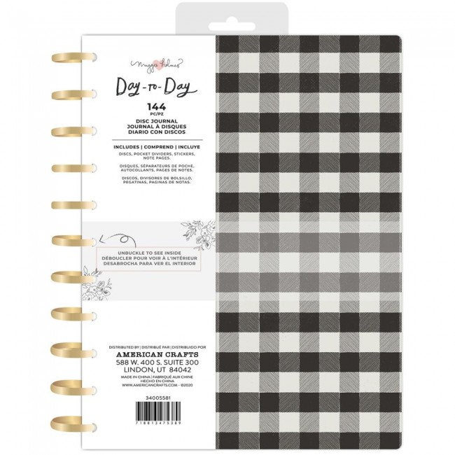 Cahier Day to Day Maggie Holmes Black & White Checkerboard