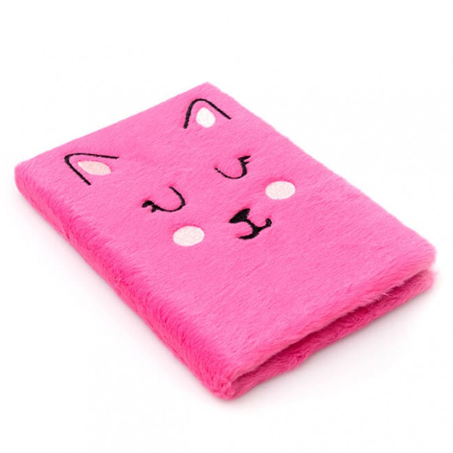 Cahier Hello Dreamer Peluche Chat Brodé