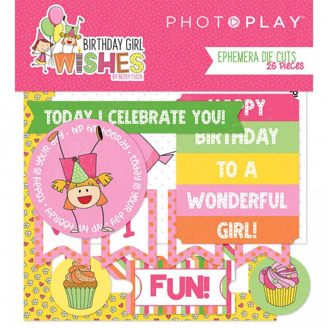 Die Cuts Birthday Girl Wishes