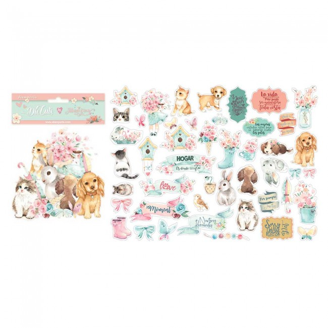 Die Cuts Circle of Love Johanna Rivero Cats dogs and embellishments