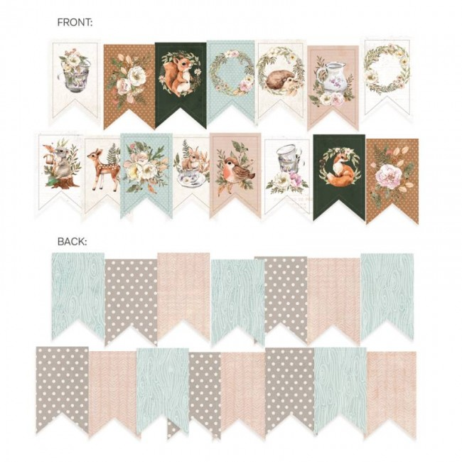 Die Cuts Forest Tea Party Garland
