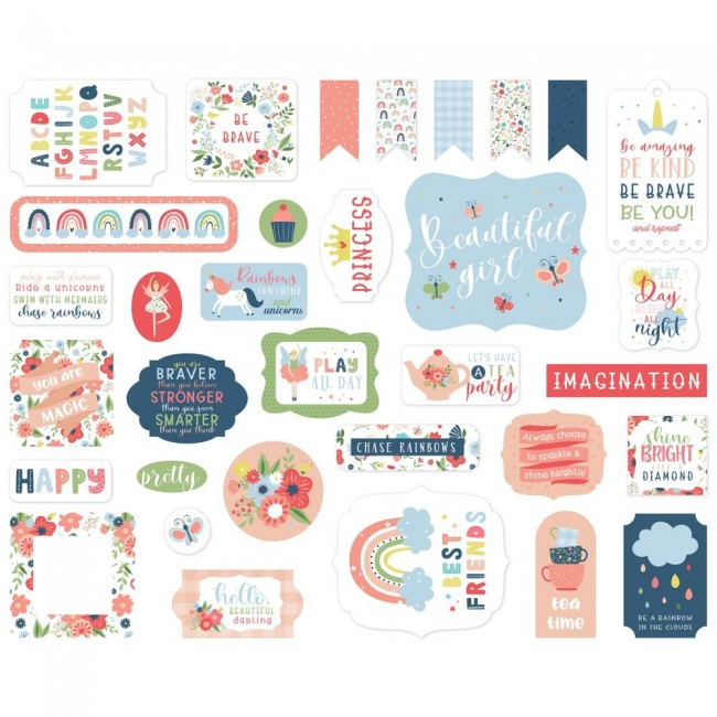 Die Cuts Little Dreamer Girl icons