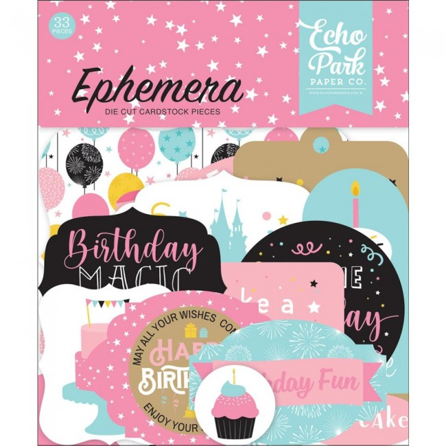 Die Cuts Magical Birthday Girl Icons
