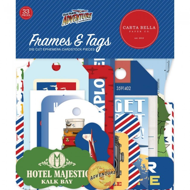 Die Cuts Our travel adventure frames & tags