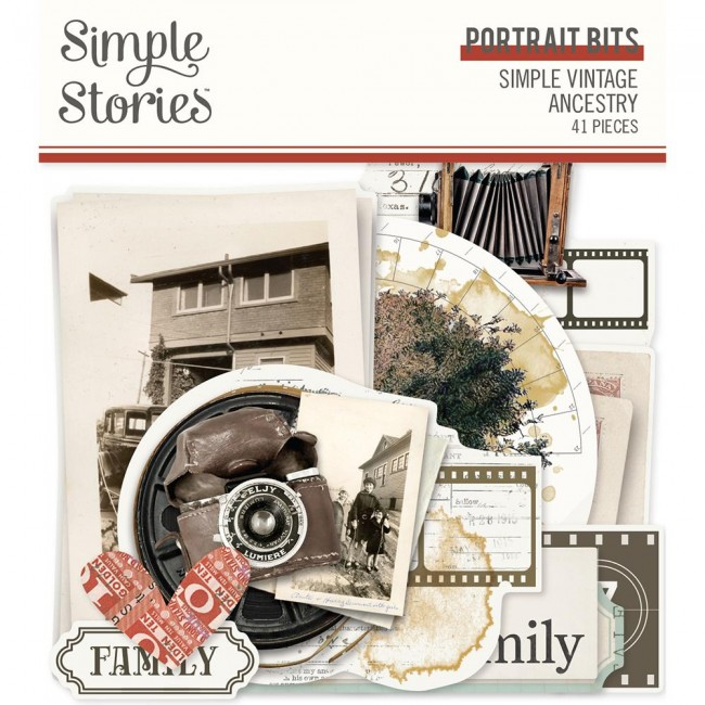 Die Cuts Simple Vintage Ancestry Portrait