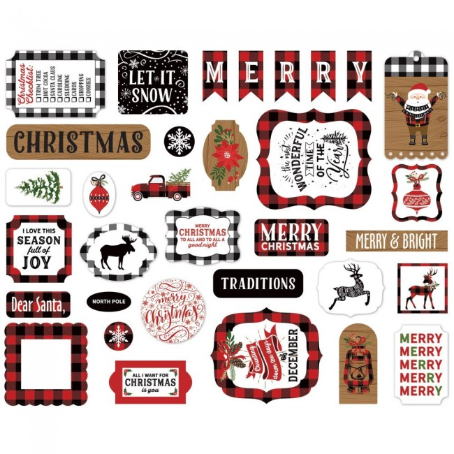 Die Cuts A Lumberjack Christmas Icons
