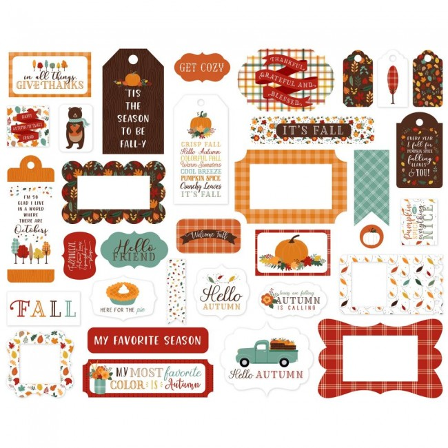 Die Cuts Happy Fall Frames & Tags