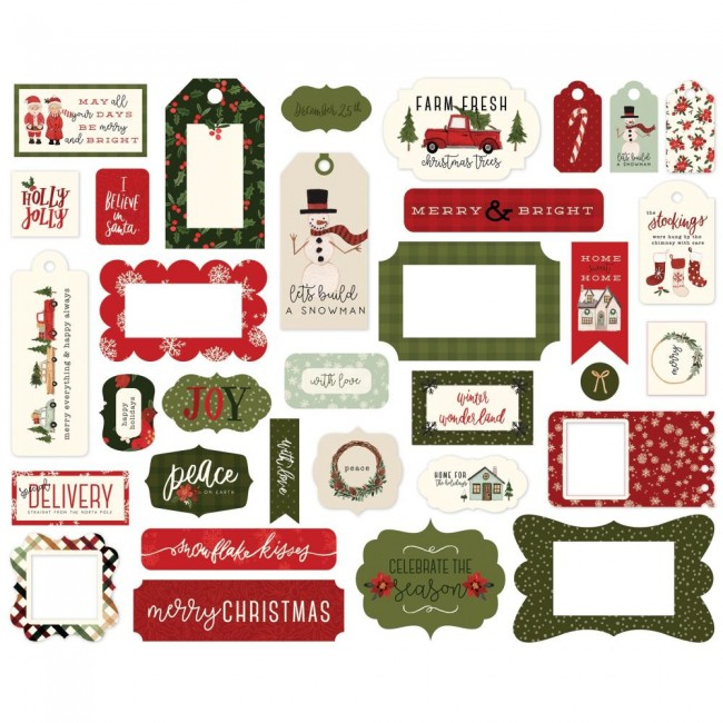 Die Cuts Hello Christmas Frames & Tags