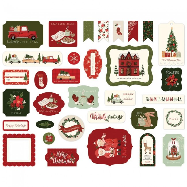 Die Cuts Hello Christmas Icons