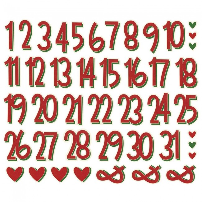 Die Cuts Jingle All The Way Number Bits
