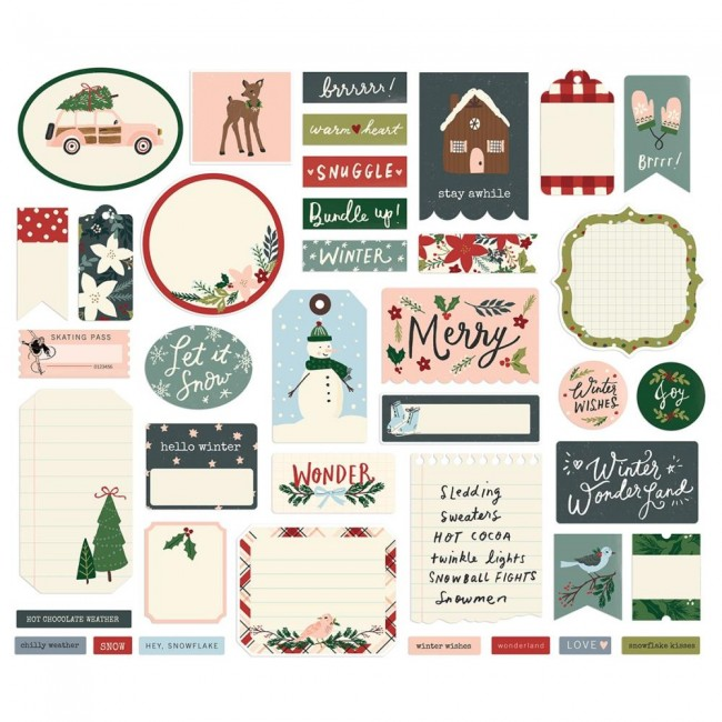 Die Cuts Winter Cottage Journal