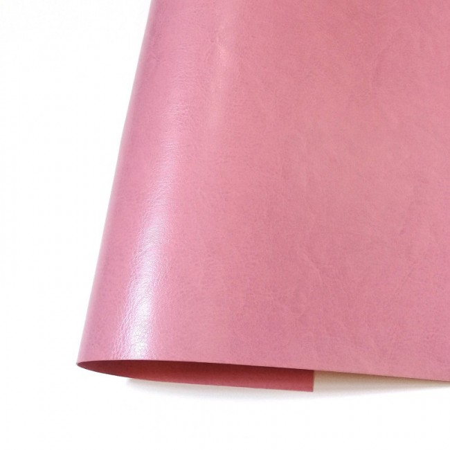 Simili Cuir Ecopiel 35 cm x 50 cm Satinée Rose Flamand