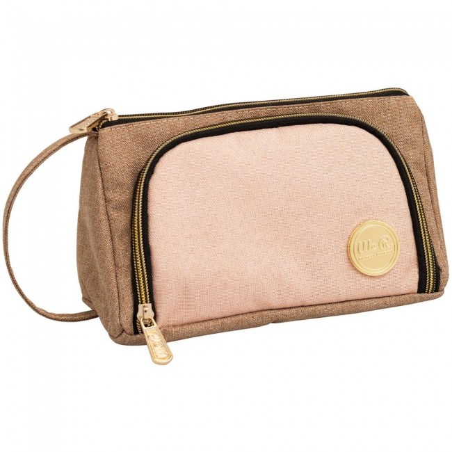 Trousse Taupe & Pink