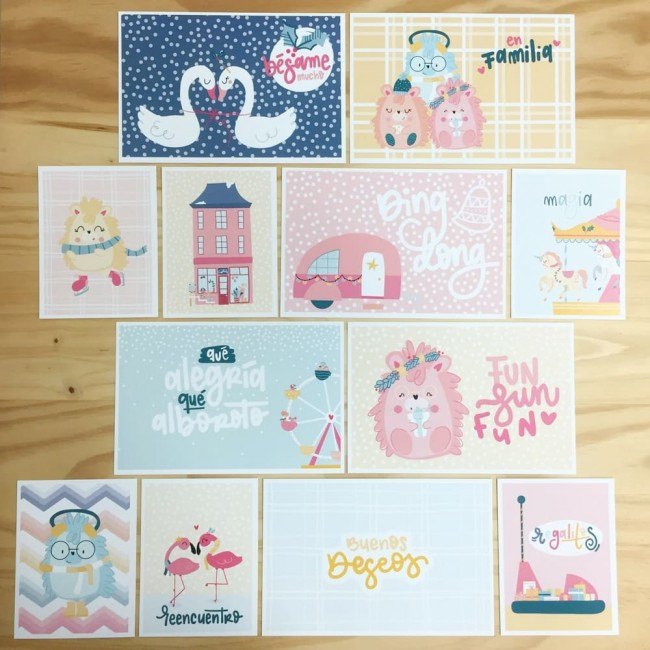 Lot de Cartes Project Life Ho Ho Land Alegría
